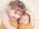 Photo famille photo nouveau n� avec soeur