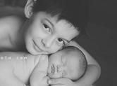 Photo famille Photo bébé et son frère