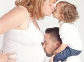 Photo grossesse Photo de famille : bisous de grossesse !