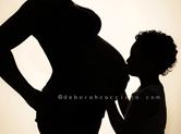 Photo grossesse Photo d\'enfant et du ventre de grossesse en ombre