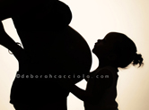 Photo grossesse Séance photo de femme enceinte en ombre chinoise