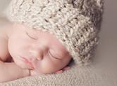 Photo nouveau-ne Photo de bébé avec bonnet en laine