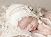 Photo nouveau-ne Photo vintage de bébé angélique
