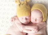 Photo nouveau-ne Photo de bébés jumeaux