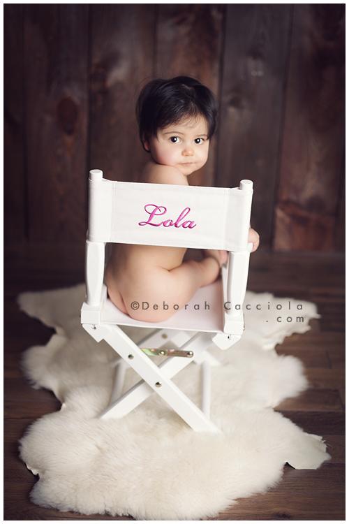 Photo Bébé Photo De Bébé : Sur La Chaise De Lola