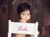 Photo bebe Photo de bébé : sur la chaise de Lola