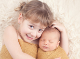 Photo famille Photo de nouveau né avec sa soeur