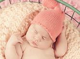 Photo nouveau-ne Photo studio de bébé dans un panier