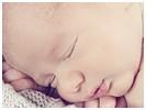 Photo nouveau-ne Photo de nouveau-né dans une corbeille